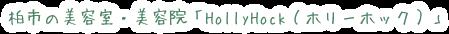 柏市の美容室・美容院「HollyHock(ホリーホック)」