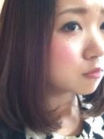 ミディアムボブ、水○希子風…カット&毛先ワンカール